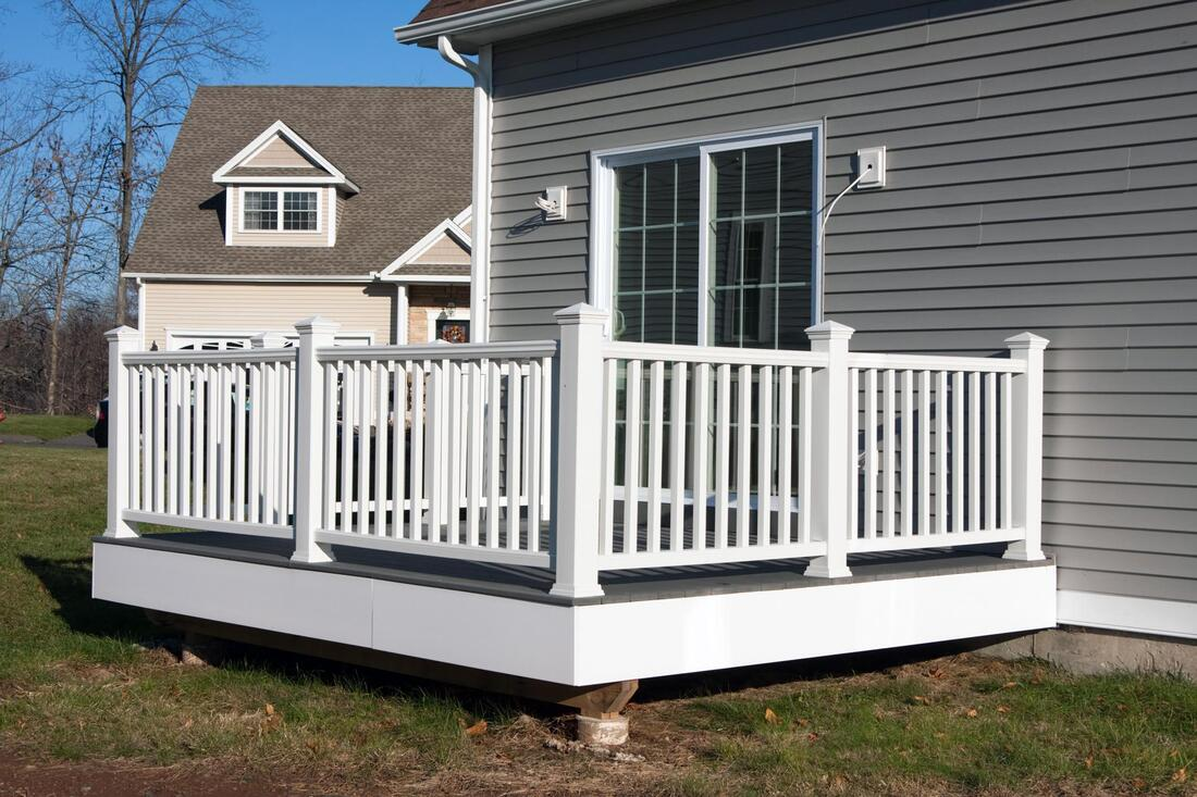 repairing the deck of the house