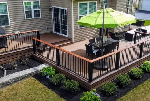 Beautiful custom build deck built in Cincinnati OH-min