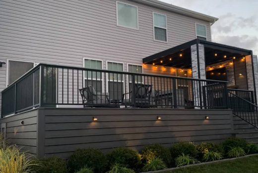 Mordern deck built in Cincinnati, OH-min